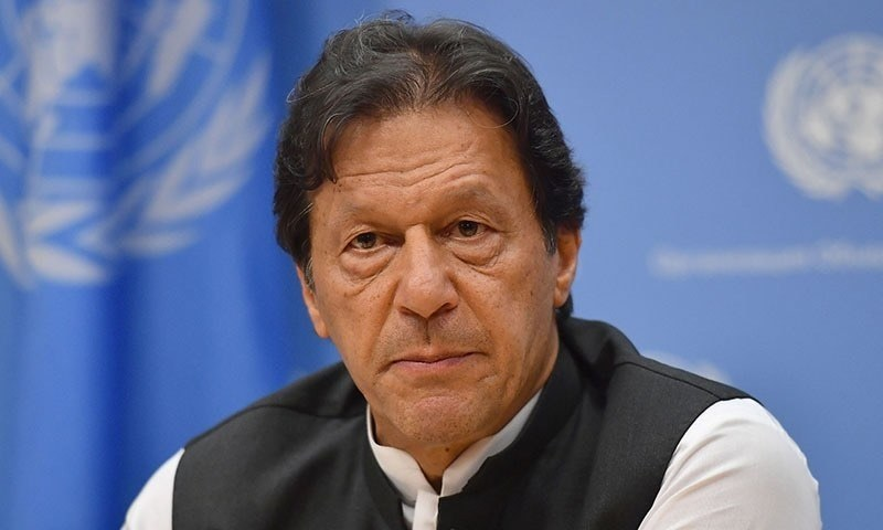 Prime Minister Imran Khan speaks during a press conference at the United Nations Headquarters in New York on September 24, 2019. — AFP/File