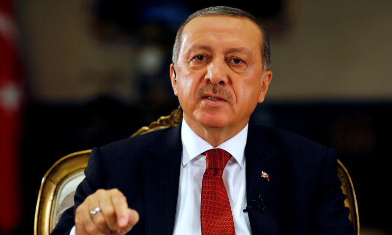 """Turkey's president said on Wednesday that Western countries mocking Islam wanted to  """"relaunch the Crusades"""", heightening a confrontation with France over cartoons of the Prophet Muhammad (peace be upon him) that have stirred anger in Muslim-majority countries. — Reuters/File"""
