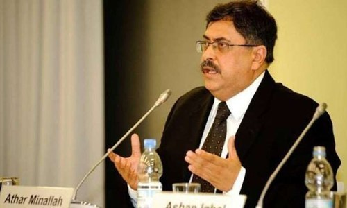 IHC Chief Justice Athar Minallah was hearing a set of petitions filed by the  Zarai Taraqiati Bank Limited officials against their demotion. — Dawn/File