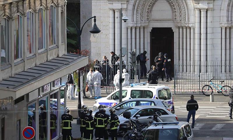 فرانس: گرجا گھر میں چاقو سے حملہ، خاتون سمیت 3 افراد ہلاک
