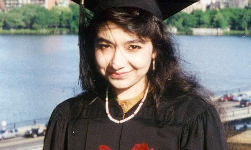 A file photo of Pakistan-born neuroscientist Dr Aafia Siddiqui.