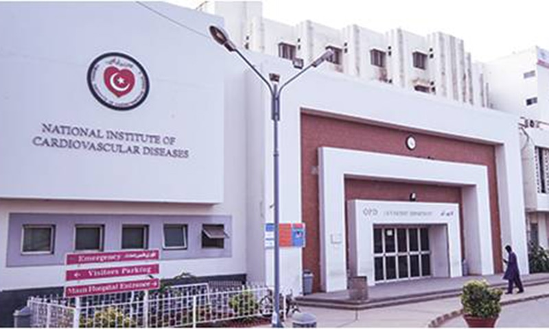 A NAB team raided the National Institute of Cardiovascular Diseases checked its financial records, questioned officials of the health facility, gathered relevant documents and returned after more than five hours. — Photo courtesy NICVD website