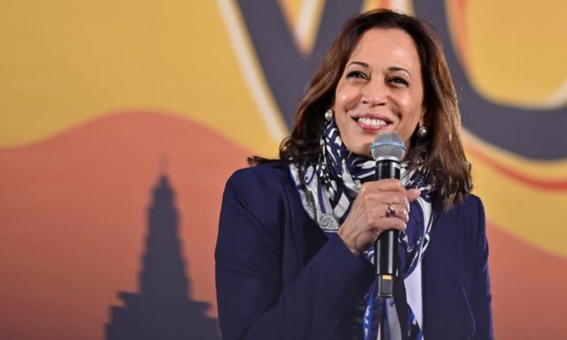 United States Democratic vice presidential nominee Senator Kamala Harris  speaks at a campaign event in Las Vegas, Nevada, on Oct 27. — Reuters/File