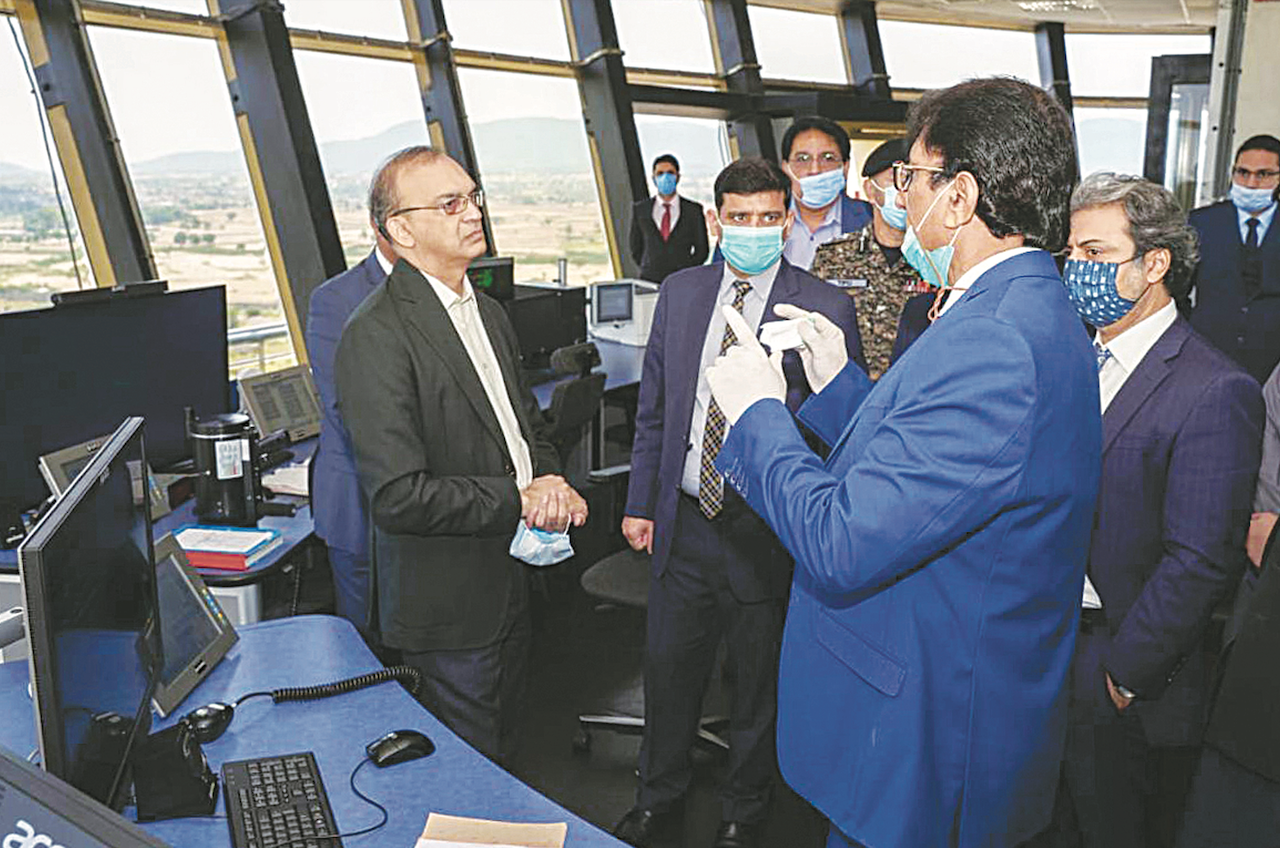 Secretary Aviation Hassan Nasir Jamy inaugurated the newly constructed Control Centre at Islamabad International Airport | White Star