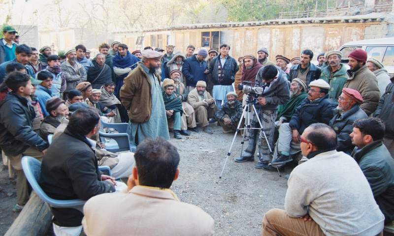A man speaks at a focus group discussion in district Ghanche, Baltistan | Photo by the writer