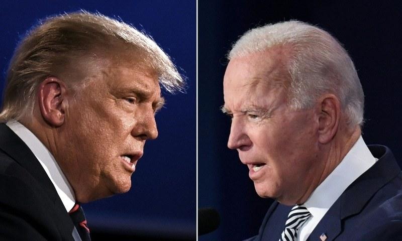 A crude match: Trump vs Biden