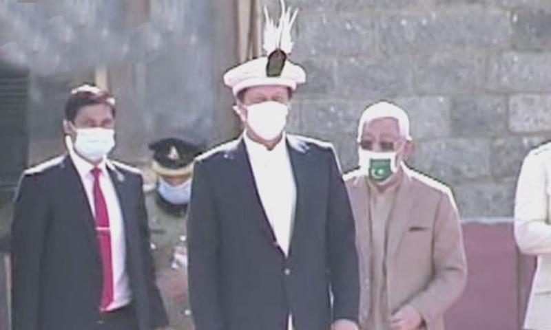 Prime Minister Imran Khan participates in the Azadi Parade in Gilgit-Baltistan on Sunday. — DawnNewsTV