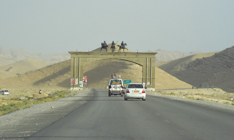 Linking the capitals of Balochistan and Sindh, the National Highway (N-25), better known as RCD Highway, passes through Mangochar, Kalat.— Photo by Banaras Khan