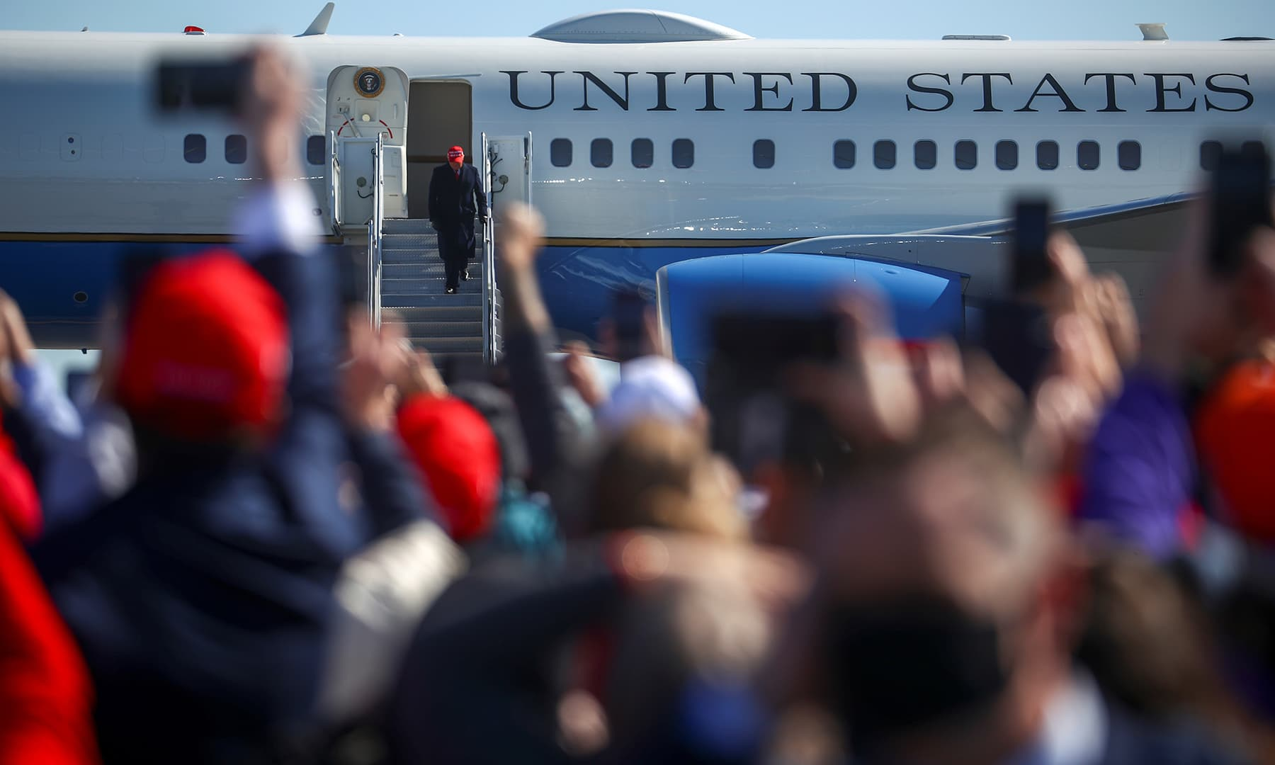 US President Donald Trump holds a campaign rally at Fayetteville Regional Airport in Fayetteville, North Carolina, US, November 2. — Reuters