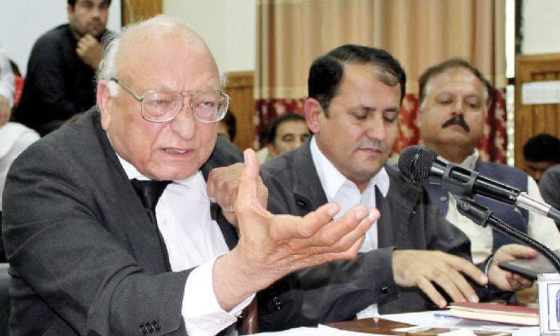 Newly elected president of the Supreme Court Bar Association (SCBA) Abdul Latif Afridi has said the judiciary should stay away from political matters and stick to its job of protecting the Constitution. — INP/File