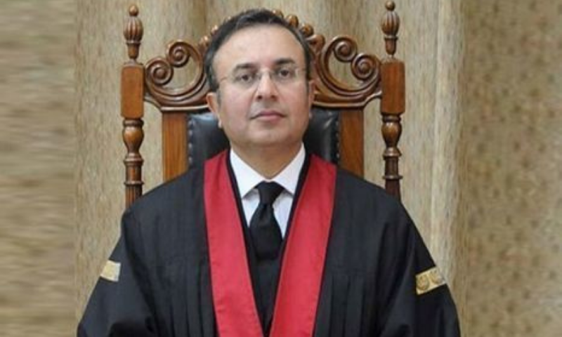 Justice Syed Mansoor Ali Shah fears that unlawful procurement of information about three London properties through unlawful surveillance of Justice Qazi Faez Isa and his family is deeply worrying and shakes the foundation of a democratic society based on rule of law. — File photo