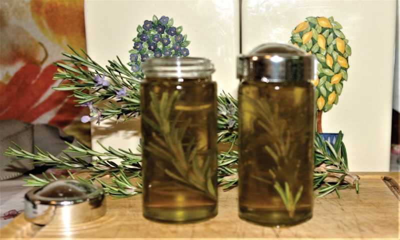 Rosemary oil   Photos by the writer