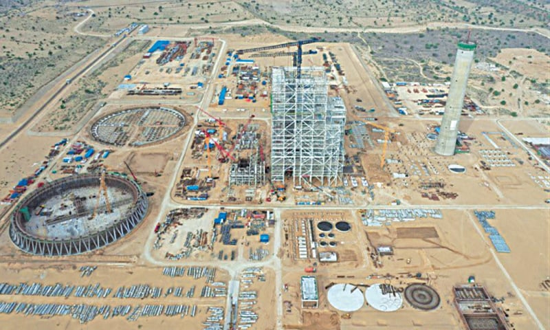 An aerial view of Thar Coal Block I — a project which is part of the CPEC — is seen in this file photo.