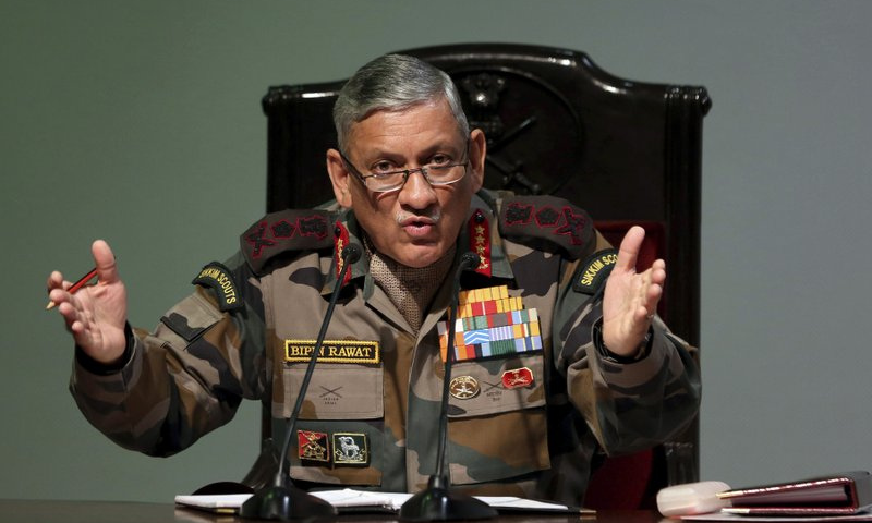 India top general on China: 'Larger conflict can't be discounted'