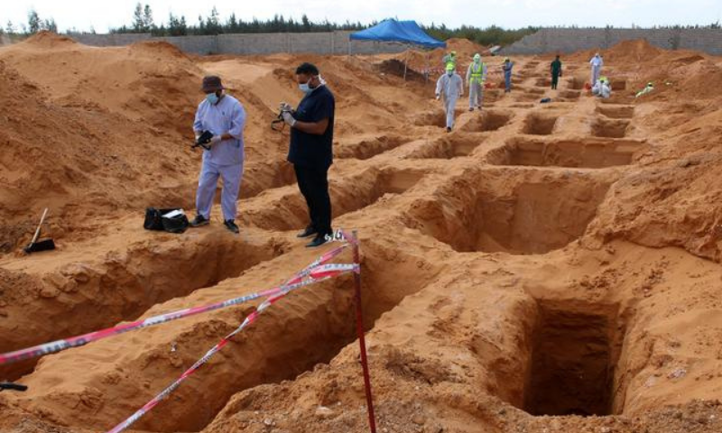 Seventeen bodies have been unearthed in newly found mass graves in western Libya's Tarhuna region, taking the total exhumed in recent months to 112, the missing persons authority said on Saturday. — Reuters/File