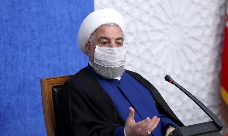 In this photo released by the official website of the office of the Iranian Presidency, President Hassan Rouhani speaks in a meeting in Tehran on November 8. — AP