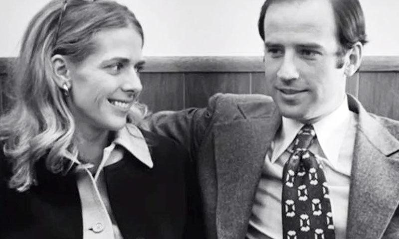 جوبائیڈن نے پہلی شادی ایک استانی سے 1966 میں کی تھی—فائل فوٹو: ٹوئٹر