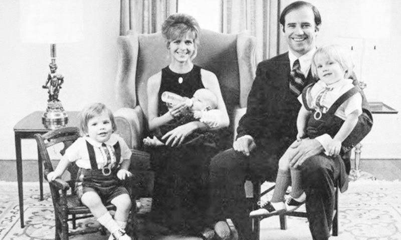 جوبائیڈن کو پہلی بیوی سے تین بچے تھے—فائل فوٹو: ٹوئٹر