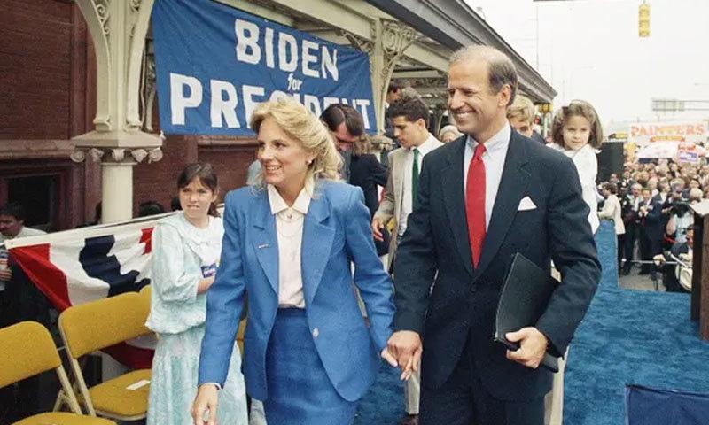 جوبائیڈن نے 1987 کے انتخابات سے دستبرداری کی تھی—فائل فوٹو: اے پی