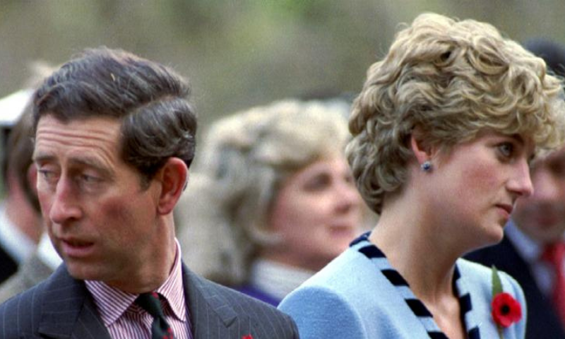 In this file photo, Princess Diana and Prince Charles look in different directions, November 3, during a service held to commemorate the 59 British soldiers killed in action during the Korean War. — Reuters/File