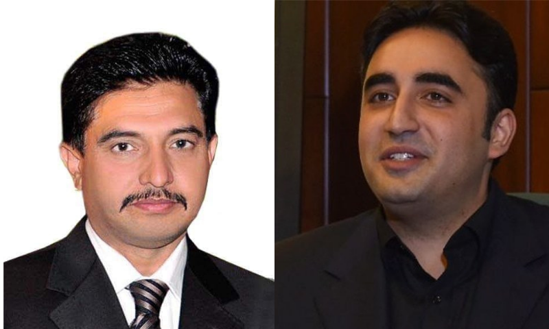 PML-N MNA Ihsan Bajwa (L) and PPP Chairman Bilawal Bhutto-Zardari are among the declared billionaires. — Photo courtesy FB/File