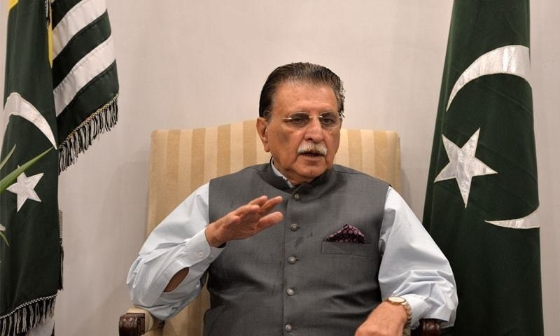 AJK Prime Minister Raja Farooq Haider made the remarks  at a function held to mark the death anniversary of Col Khan Muhammad Khan. — AFP/File
