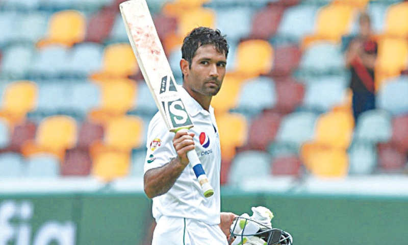 ASAD Shafiq ... end of Pakistan record streak of 72 Test appearances  on the trot
