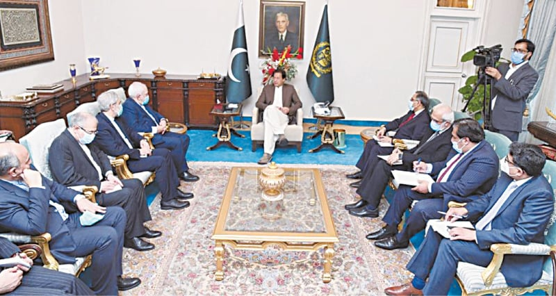 ISLAMABAD: Prime Minister Imran Khan meets an Iranian delegation led by Foreign Minister Javad Zarif on Wednesday.