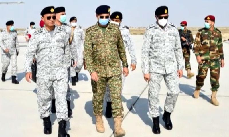 Chief of Naval Staff Admiral Mohammad Amjad Khan Niazi visited the coastal areas of Turbat, Gwadar and Ormara on Thursday. — Photo courtesy Radio Pakistan