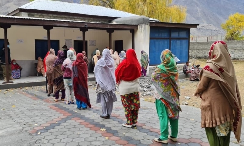 Polling in Ghizer was held with strict implementation of standard operating procedures to curb the spread of Covid-19. — APP