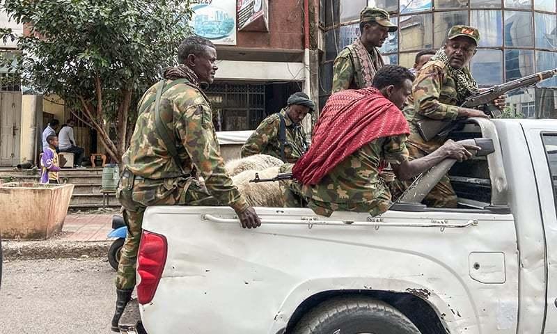 انہوں نے کہا کہ ان کی فوجیں ایتھوپیا کے فوجیوں کے علاوہ اریٹرین فوج سے بھی لڑ رہی ہے—فوٹو: اے ایف پی