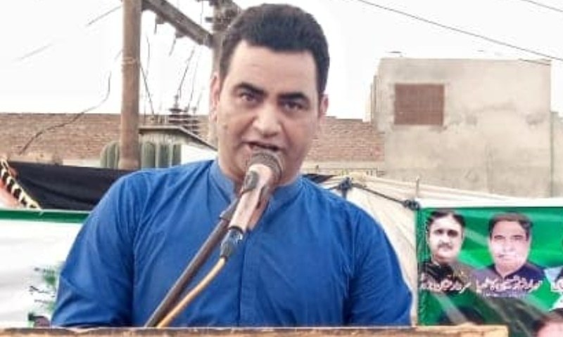 The PTI local leader Naveed Aslam, who is on bail in the case of slapping a woman officer of the Pakistan Post, has been appointed as the district coordinator of the Punjab Women Protection Authority (PWPA). — Photo courtesy Naveed Aslam Facebook