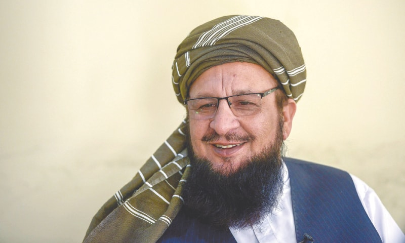 MAULANA Yousaf Shah speaks during an  interview. — AFP