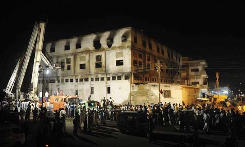 "The legal heirs of five Baldia factory victims on Monday moved the Sindh High Court (SHC) to challenge the judgement of a trial court in the arson case and sought a retrial to try the ""real culprits"". — AFP/File"