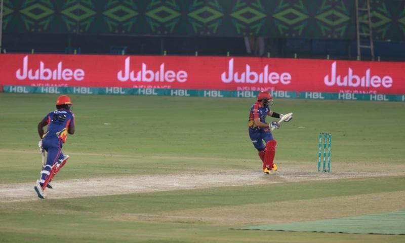Karachi Kings batsmen Babar Azam and Chadwick Walton in action. — Photo courtesy: KK Twitter