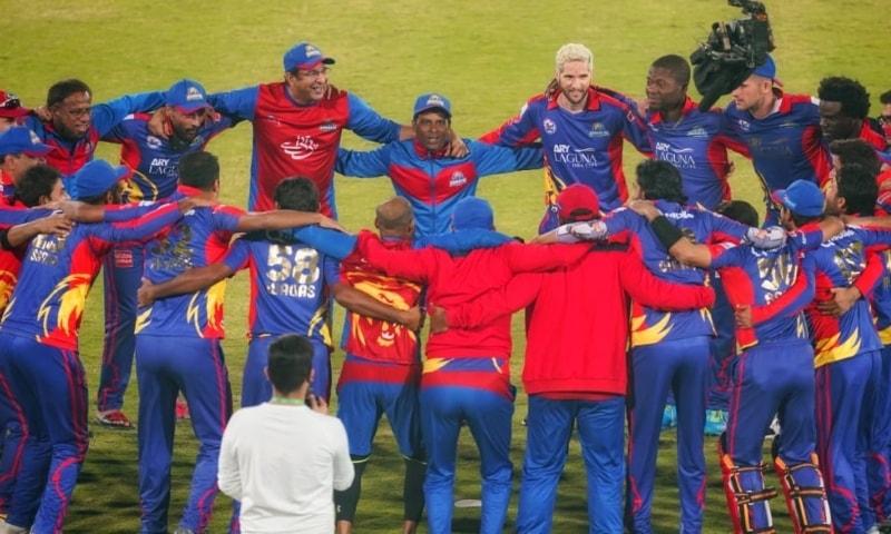 Karachi Kings celebrate winning their first-ever PSL title. — Photo courtesy: PSL Twitter