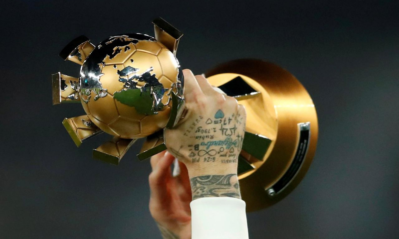 A picture of the FIFA Club World Cup trophy. — Reuters/File