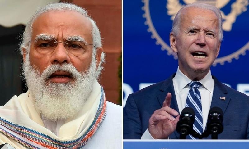 Indian Prime Minister Narendra Modi (left) and US President-elect Joe Biden. — Photos AP