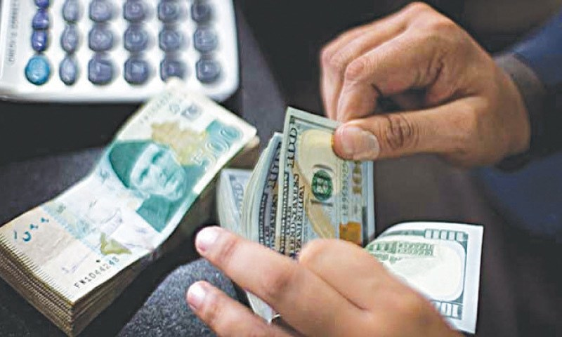 Dollar cost Rs159.83 by the end of Wednesday's session. — Dawn archives