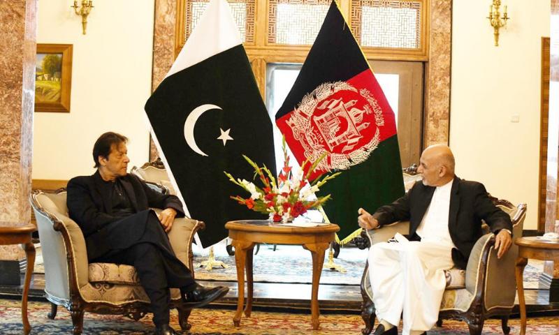 عمران خان نے اشرف غنی سے ملاقات کی—فراہم کردہ: نوید صدیقی