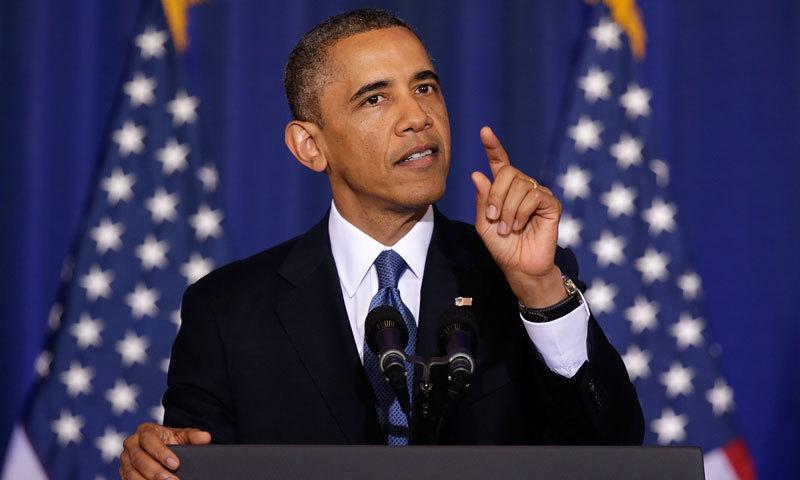 اے پرامس لینڈ کے عنوان سے باراک اوباما کی کتاب 17 نومبر کو پوری دنیا میں جاری کی گئی —فائل فوٹو:اے ایف پی