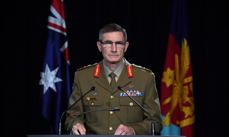 Chief of the Australian Defence Force Gen. Angus Campbell delivers the findings from the Inspector-General of the Australian Defence Force Afghanistan Inquiry on Nov 19. — AP