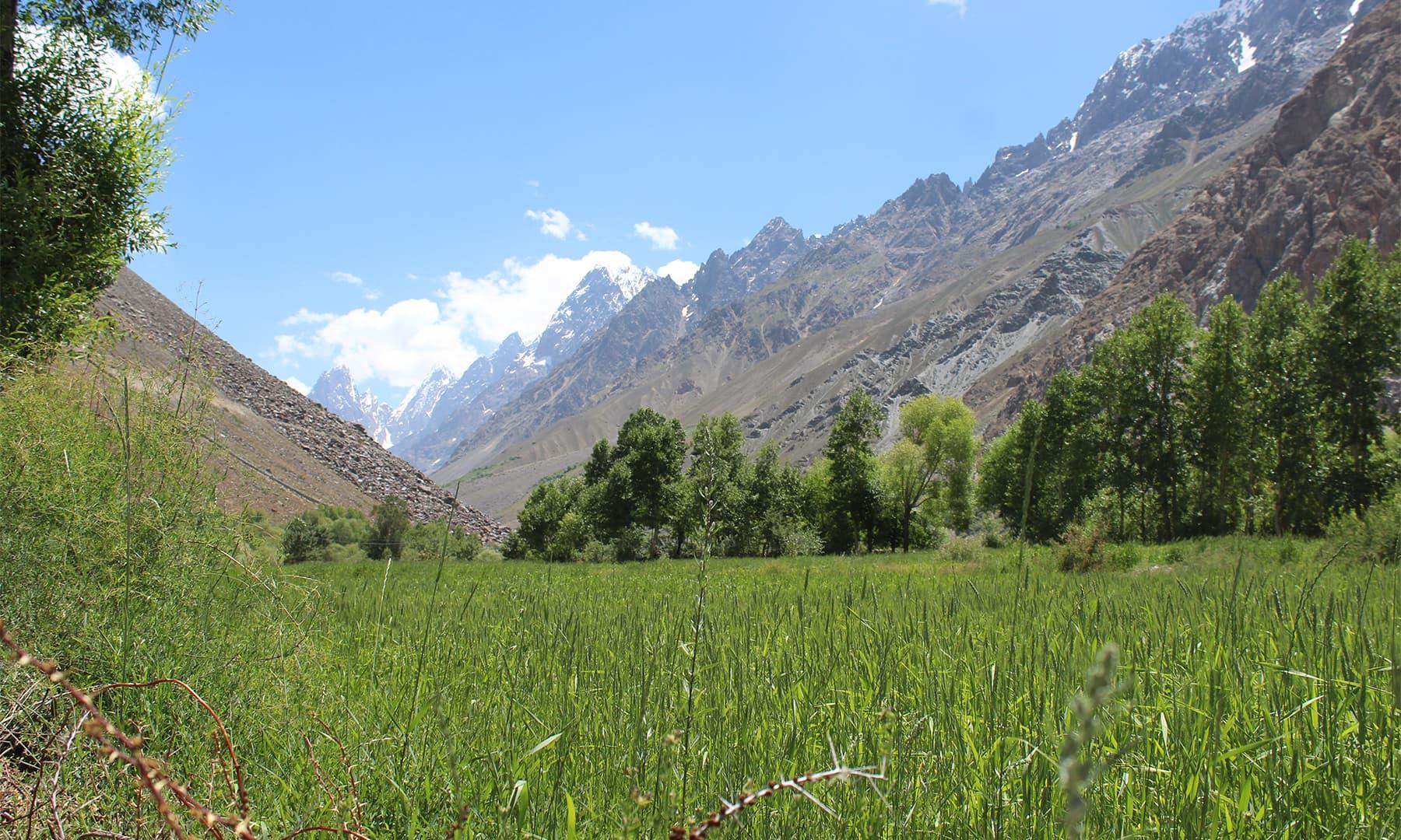وادی یاسین کا منظر