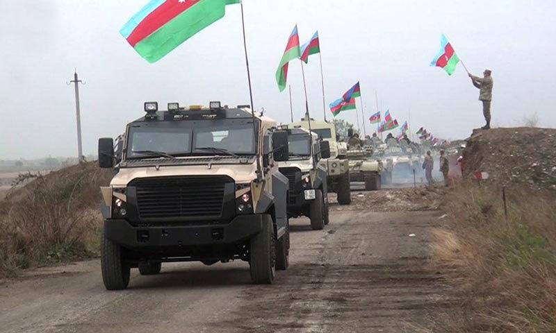 ضلع اغدام میں آذربائیجان کی فوج داخل ہوگئی —فوٹو:رائٹرز