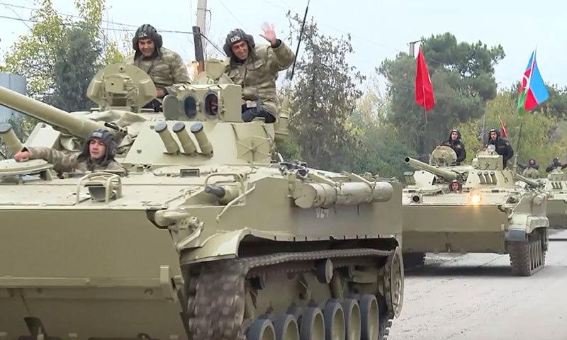 ضلع اغدام میں آذربائیجان کی فوج داخل ہوگئی —فوٹو: اے پی