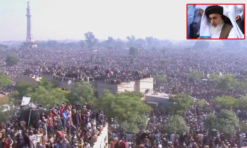 تحریک لبیک کے سربراہ خادم رضوی کی نماز جنازہ ادا، ہزاروں افراد کی شرکت