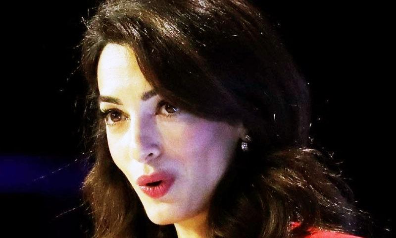 امل کلونی معروف اداکار جارج کلونی کی اہلیہ ہیں—فائل فوٹو: اے ایف پی