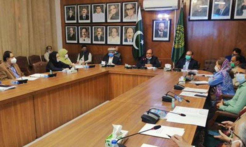 سعید غنی کی سربراہی میں اجلاس ہوا—فوٹو: میڈیا کنسلٹنٹ وزیر تعلیم سندھ