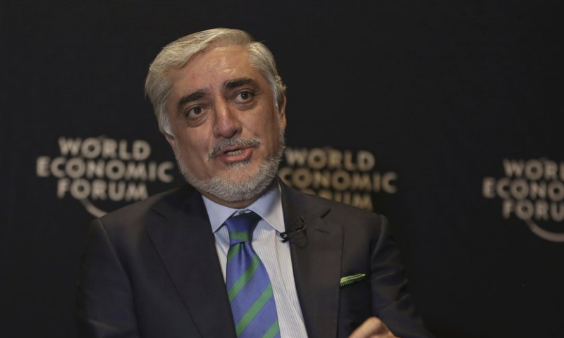 In this 2019 file photo, Afghanistan's chief peace envoy Abdullah Abdullah speaks to the Associated Press. — AP