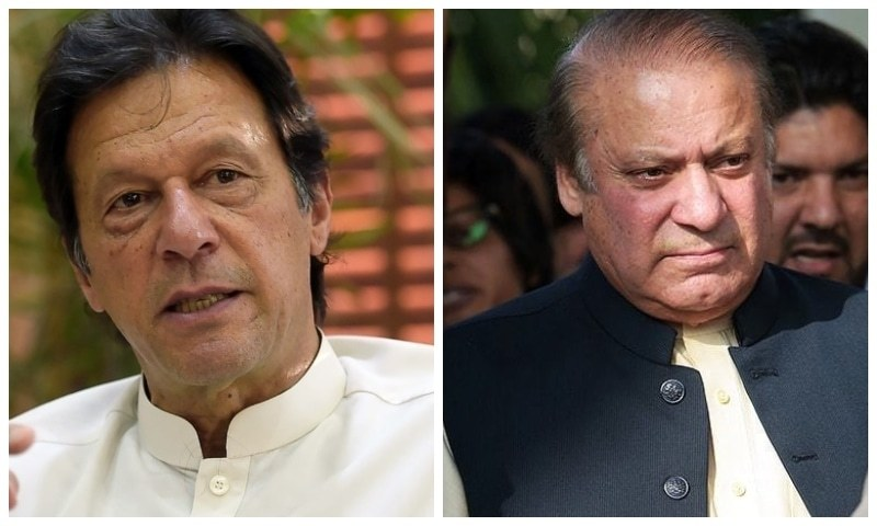 This combination file photo shows Prime Minister Imran Khan and former premier Nawaz Sharif. — Photo courtesy agencies